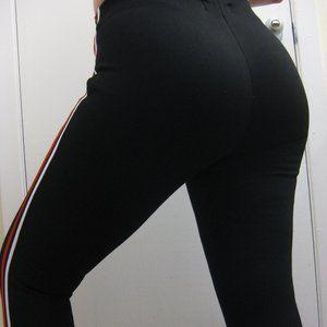 NWT Guess black striped leggings S small